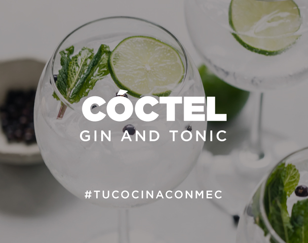 ¡Cóctel gin and tonic!